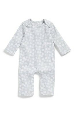 Infant Boy's Aden + Anais Quilted Romper, Size 3-6M - Grey