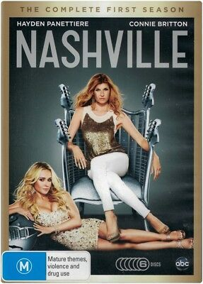 """NASHVILLE: Complete Season 1"" DVD, 6 Disc Set - Region [4] Brand New"