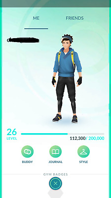 Pokemon-Go-account Level 26-27 - No Team - 2016 Account
