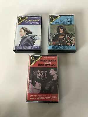K7 Audio Joan Baez, 3 Cassettes, Lot, Collection