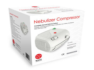 Nebulizer Machine Compressor System with 2 Mask Kits and Carry Bag