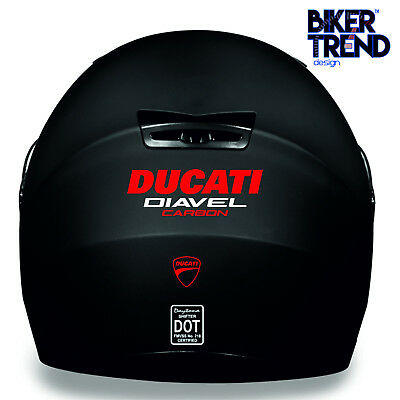 DUCATI DIAVEL CARBON HELMET KIT Decal Sticker Detail-Best Quality-Many Colours