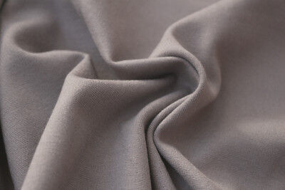 Plain Mid Weight Ponte Roma Jersey Dress Fabric Material (Pale Stone Grey)