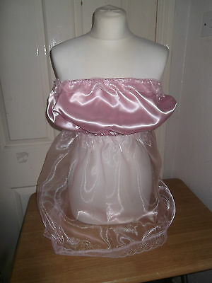 Gorgeous Adult Baby~Sissy~Maids Sexy Organza & Satin Strapless Babydoll