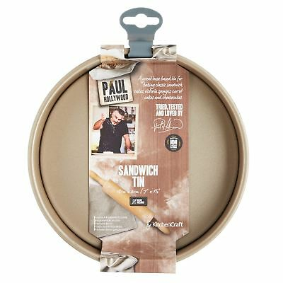 KitchenCraft Paul Hollywood Non-stick Round Sandwich Tin With Loose Base 18 cm