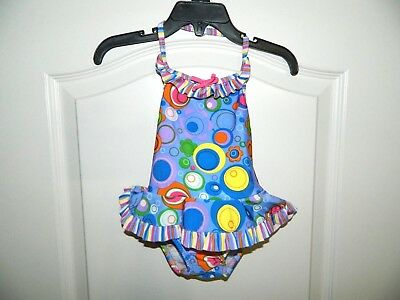 Girl's Colorful One-Piece Swim Suit Size 18 Months