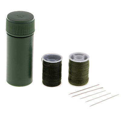 1 Set - 7 Pieces Needle and Thread Kit - Sewing Camping Survival Emergency