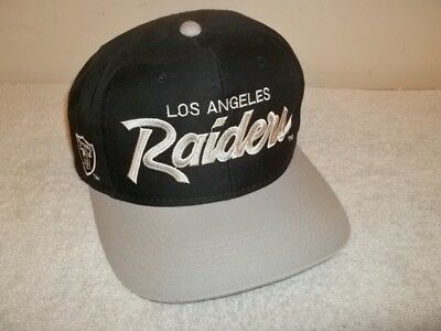Vtg SPORTS SPECIALTIES THE TWILL LOS ANGELES L.A. RAIDERS SCRIPT SNAPBACK HAT