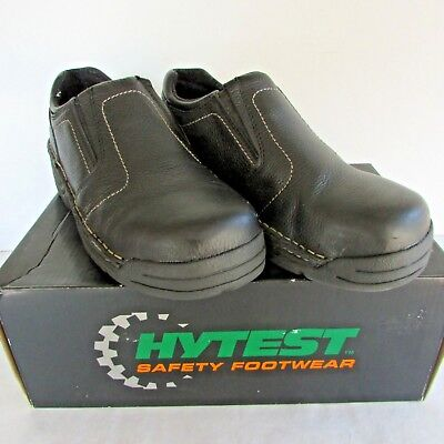 Womens Hytest Steel Toed Work Shoes - Size 10M - Black - K17140 - New in Box