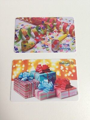 Lot of 2 WALMART Canada Presents & Streamers Gift Cards ZERO $ Balance, No Value