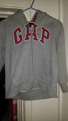 Girls Gap Kids Grey Hoodie With Red Logo S