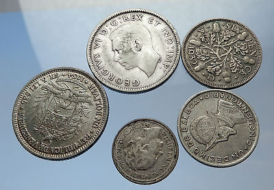 GROUP LOT of 5 Old SILVER Europe or Other WORLD Coins for your COLLECTION i69256