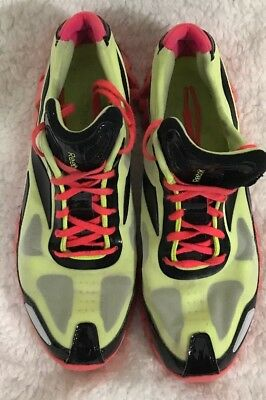 dabf467e253 USED Reebok Zig Pulse Zigtech Men s Shoes Running 10.5 Neon Yellow Orange