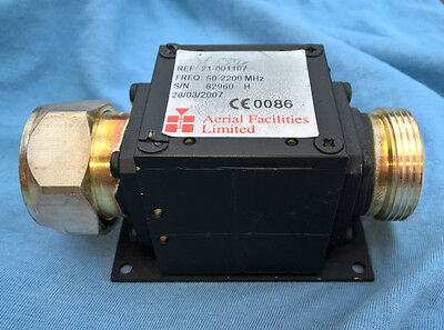 DIN 7/16 DC-Block Filter 50MHz-2,2GHz Aerial Facilities Limited