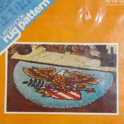 Spinnerin Latch Hook Rug Pattern American Eagle Seal Half Circle LFL372