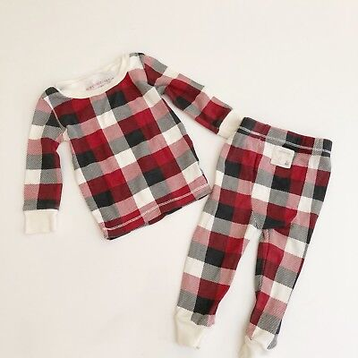 Burts Bees Pajamas Baby Plaid Red Holiday 6-9 3-6 Boy Girl Unisex Sleeper