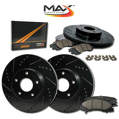 Ceramic Pads C1999 FRONT+REAR KIT Black Hart *DRILLED /& SLOTTED* Brake Rotors