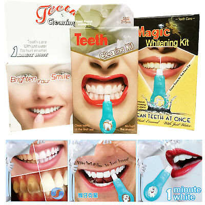 Pro Nano Teeth Whitening Kit Teeth Cleaning Whitener Brush Tooth Stains Care HOT