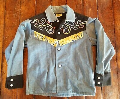 Vintage Corn Cobber Ranch Wear Western Shirt Youth  6