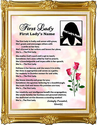 PASTOR & WIFE Personalized Poems Gift For Pastor ...