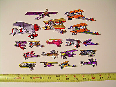 Airplane Embroidered Patches Vintage Aviation Aircraft