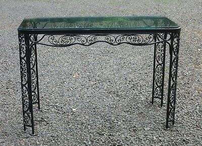 Woodard Andalusian Pattern Console Table Vintage Patio