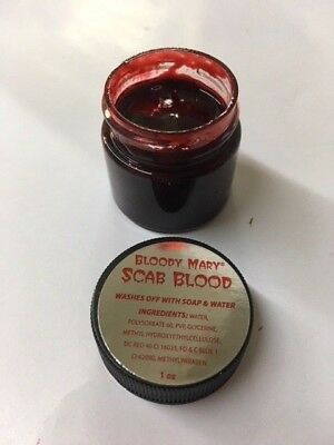 Bloody Mary  F/X Red Scab Blood, Extra Thick  1 oz. Comes with Stipple Sponges.