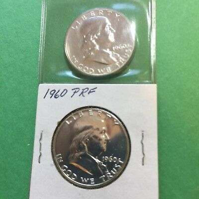 1960 Choice Proof Franklin Half Dollar - Single Coin