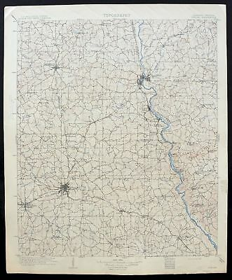 1909 OPELIKA ALABAMA Georgia Auburn Columbus West Point Antique USGS ...