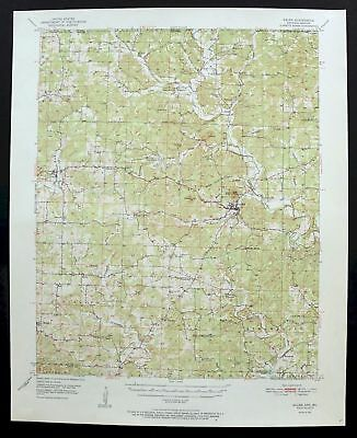 1951 Salem Arkansas Missouri Horseshoe Bend Vintage 15-minute USGS Topo Map