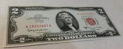 7 AU to UNC 1963 Two Dollar $2 Bills