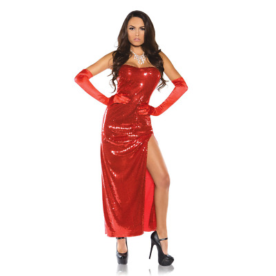 741ea55fab2c Jessica Rabbit Womens Costume Red Sexy Sequin Dress Who Framed Roger Adult