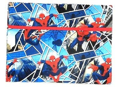Spider man Toddler Pillowcase on Blue blocks Cotton SP15-5 New Handmade