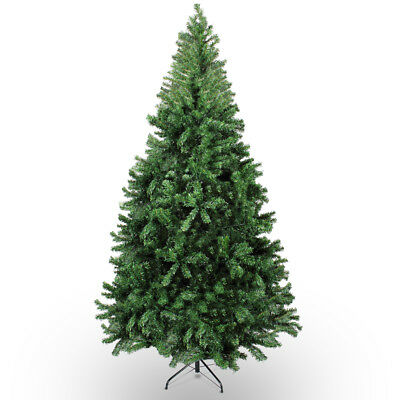 7.5ft Premium Hinged Unlit Artificial Christmas Tree 1380 Tips Easy Assembly