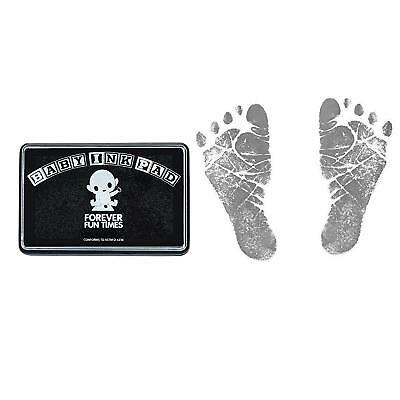 Baby Hand and Footprint Kit - Baby Safe Ink Pad - 100s of Handprints - Black