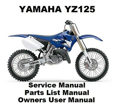 YAMAHA YZ125 Owners Workshop Service Repair Parts List Manual PDF on CD-R YZ 125