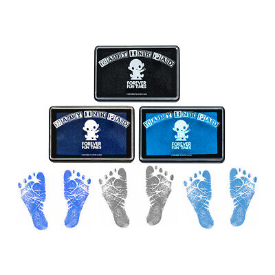 Baby Hand and Footprint Kit - Baby Safe Ink Pad - 100s of Handprints - 3 Bundle
