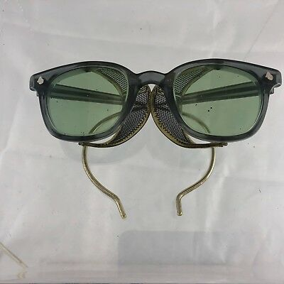 Vintage American Optical Safety Glasses Sure-Guard Green Steampunk 6 3/4