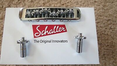 Schaller STM Roller Tunematic BRIDGE for Gibson Les Paul SG Tune-O-Matic CHROME