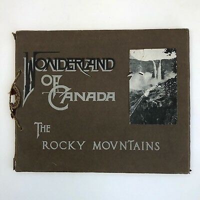 Antique Photograph Booklet 1907 Canada Mountains Canadian Pacific Railway Vtg