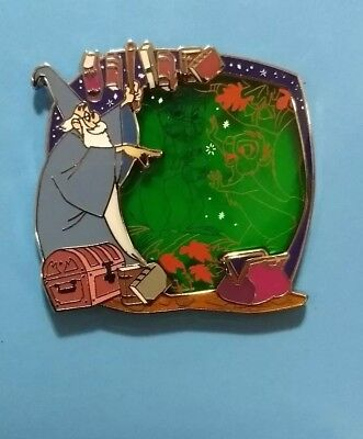 Disney Store Park Pack Pin Sword in the Stone Merlin Stained Glass Squirrel LE