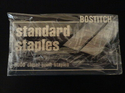 Lot of 4 Boxes    NEW STANLEY Bostitch Standard Staples 5000 Count Chisel Point