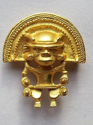 Ancient Aztec Mayan Alien Spaceman Chariots God Warrior UFO 51 Space Brooch Pin