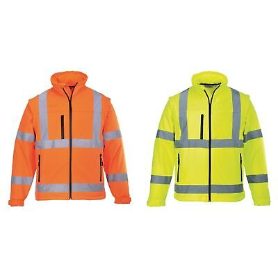Portwest Unisex Hi-Vis Safety Softshell Jacket (RW4383)