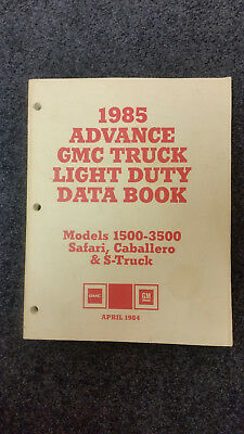 1985 GMC Advanced Ordering Guide-Covers ALL RPO Options for ALL GMC Models