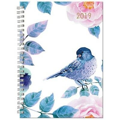 2019 Aspen Spiral Fashion Diary A5 Day To Page - Blue Bird