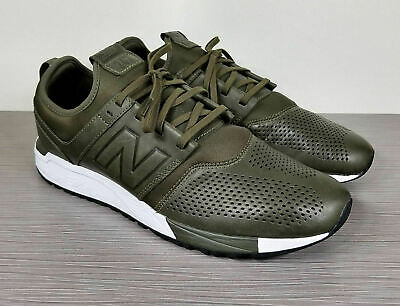 finest selection 251d9 ccd8b New Balance Olive White Sneaker, MRL247NO, Mens Size 10.5   44.5