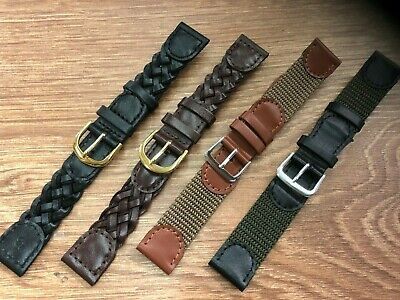"Best quality ""Expedition Style""  Leather & Canvas  Watch Strap , 18mm and  20mm"
