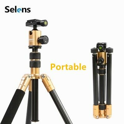 """Selens 62"""" Champagne Gold T-170 Tripod Monopod with Ball Head for DSLR Camera"""