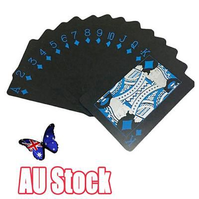 Waterproof Black Plastic Playing Cards Deck Poker Cards Board Games Of 54PCS